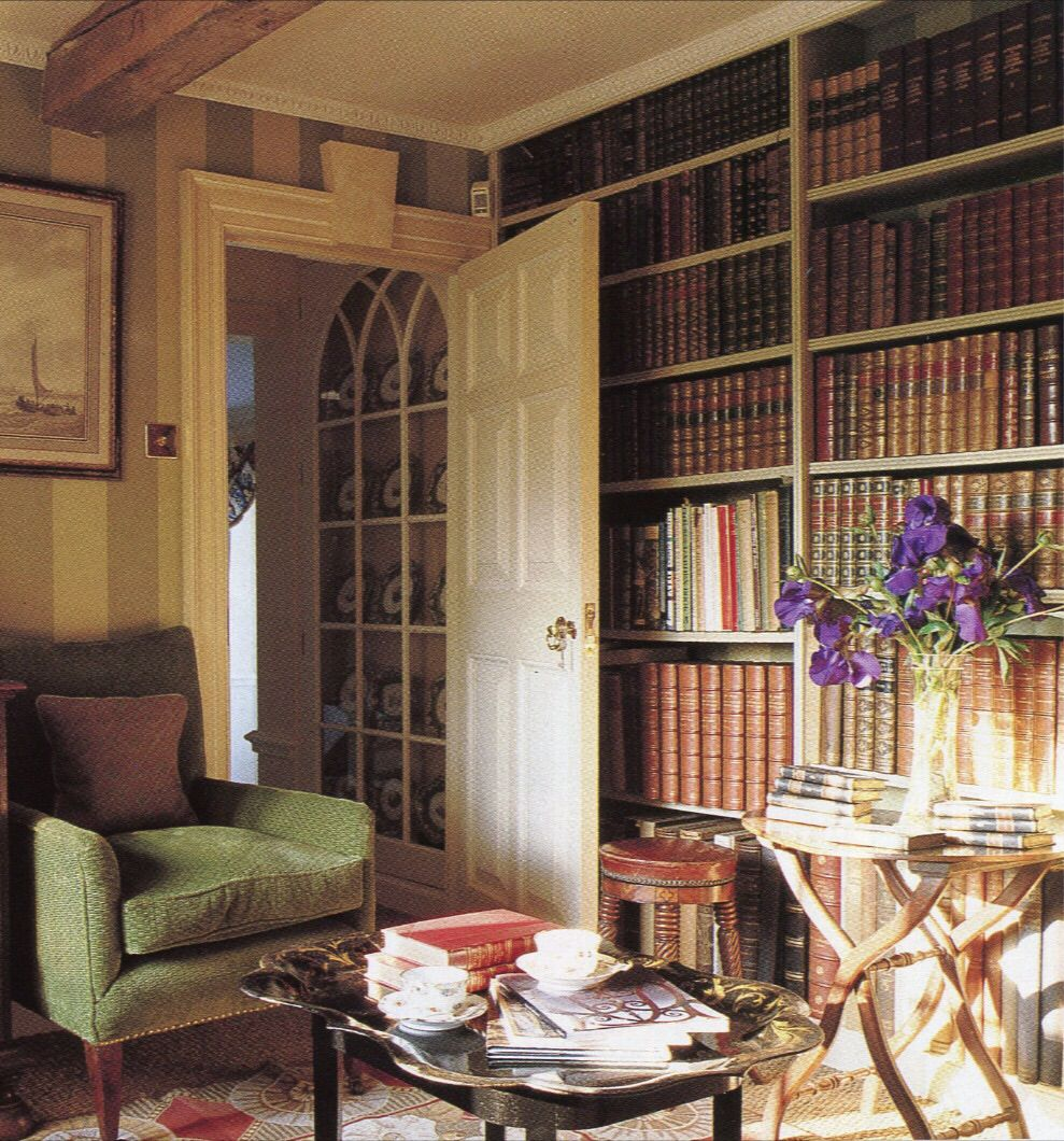 Stylish Understairs Study: Home Libraries, Library Study