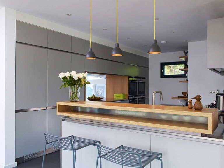 Musterhaus inneneinrichtung küche  Küche im Einfamilienhaus Crichton von Baufritz • Mit Musterhaus ...