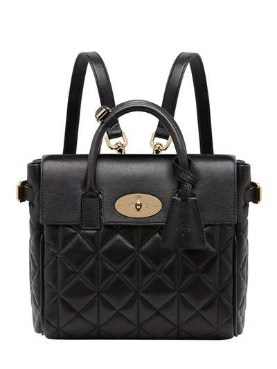Shop now: Cara Delevingne Mini Leather Backpack