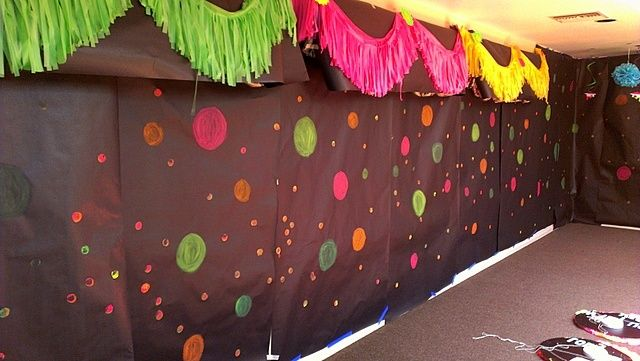 13th birthday parties · Colourful backdrop · Black Light Party IdeasGlow ... & Colourful backdrop | Youth | Pinterest | Backdrops Neon party and ...