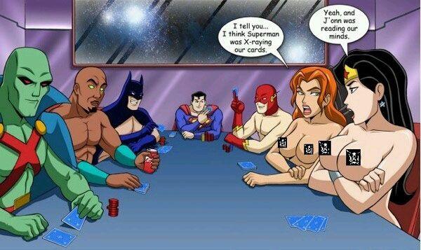 Superheroes Strip Poker