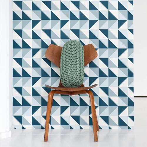 Papier Peint En Rouleau Remix Ferm Living Bleu Gris Murs