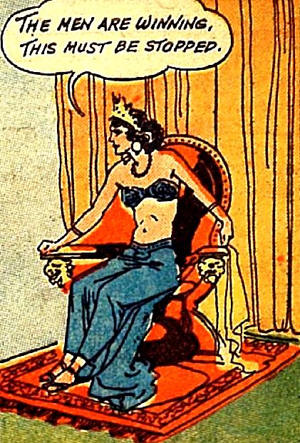 """The Sorceress of Zoom"" in Weird Comics #6 (1940)"