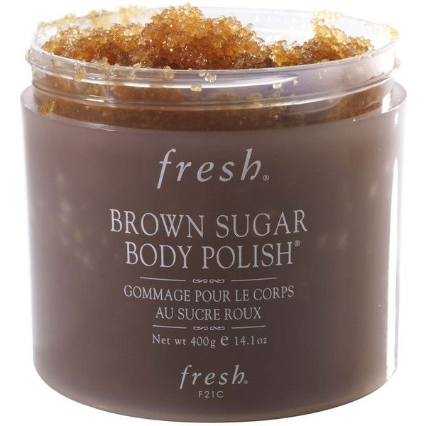 Fresh Brown Sugar Body Polish (310 NOK) ❤ liked on Polyvore