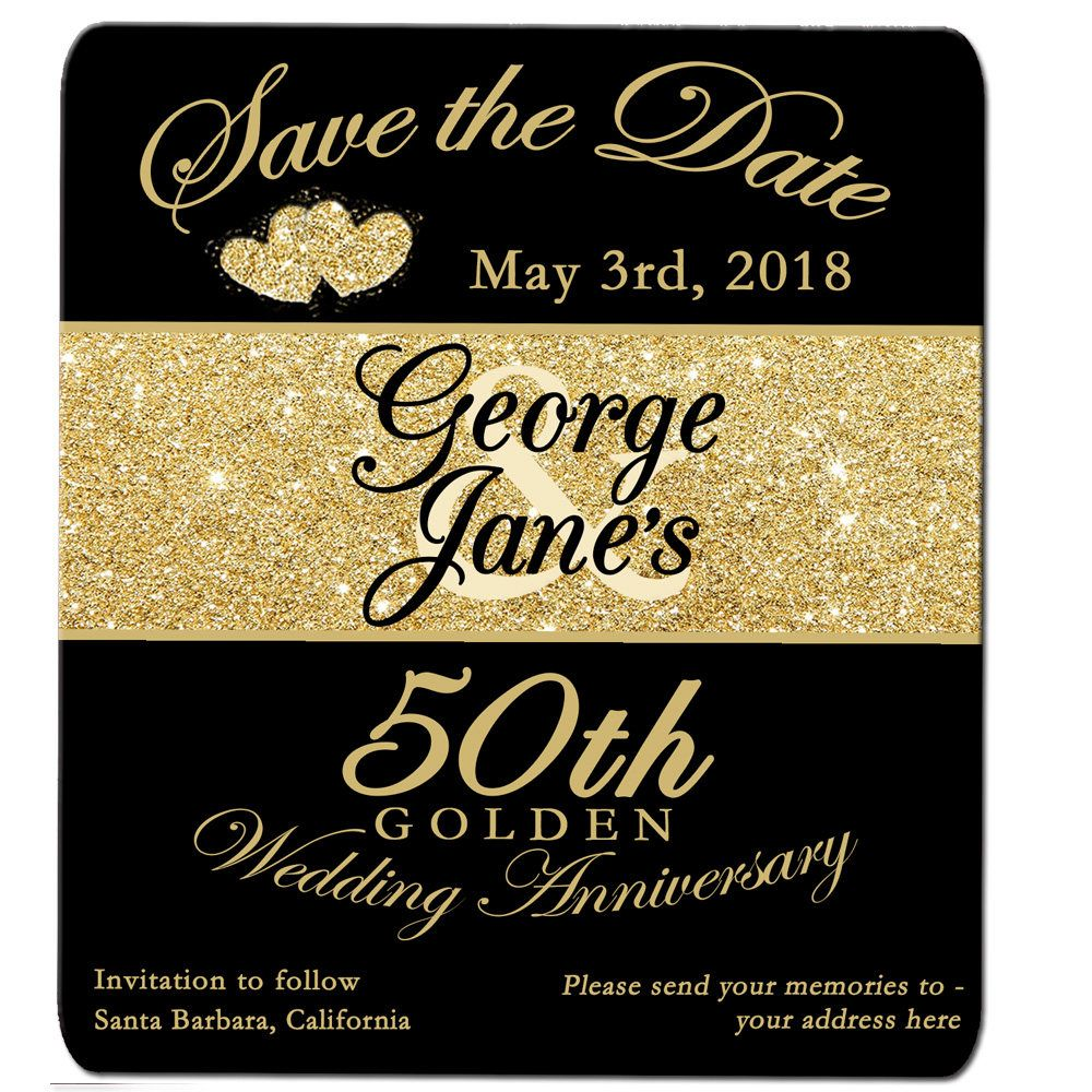 50th Golden Anniversary Save The Date Magnet No Photo