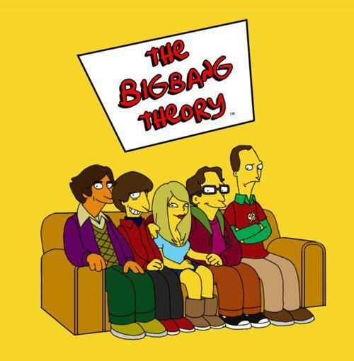 Funny Big Bang Theory simpsons style cartoon. Visit www.biglolz.net for  more and follow us on Twitter  biglolz a34f1b62d8faa