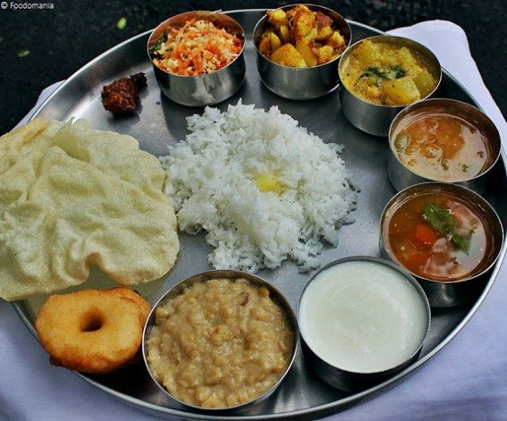 South Indian Thali A Full Meal Indian Thaali Ideas