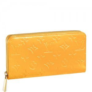Louis Vuitton Monogram Vernis Purse Yellow M91733 [M91733] :