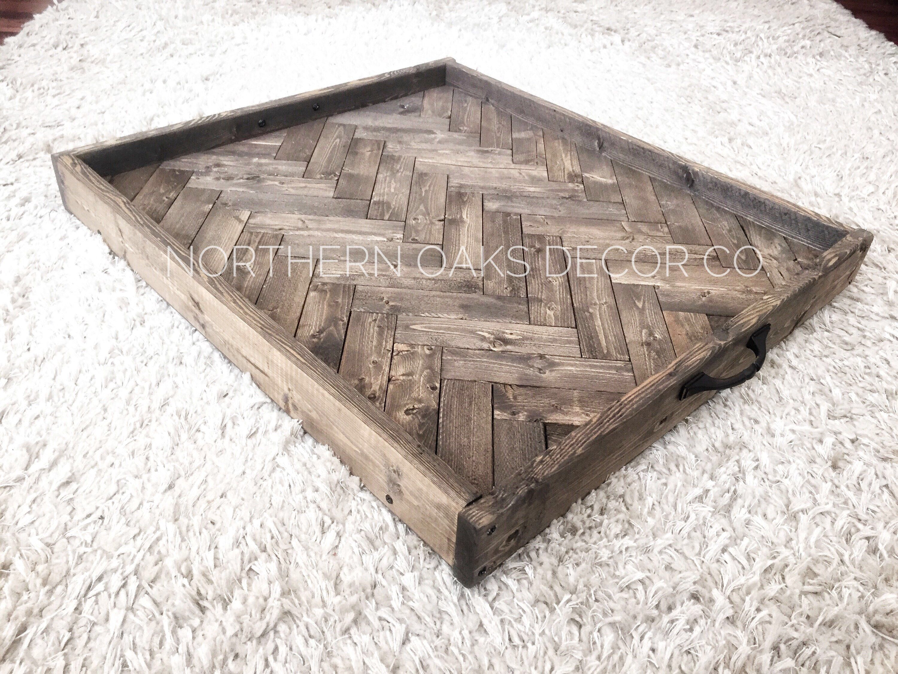 Your Place To Buy And Sell All Things Handmade Large Ottoman Tray Rustic Serving Trays Ottoman Tray