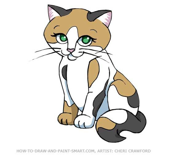 Calico Cat Clip Art Cat Cartoon Images Cartoon Cat Cat