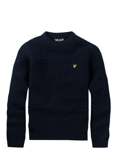 Lyle and Scott Block Textured Jumper