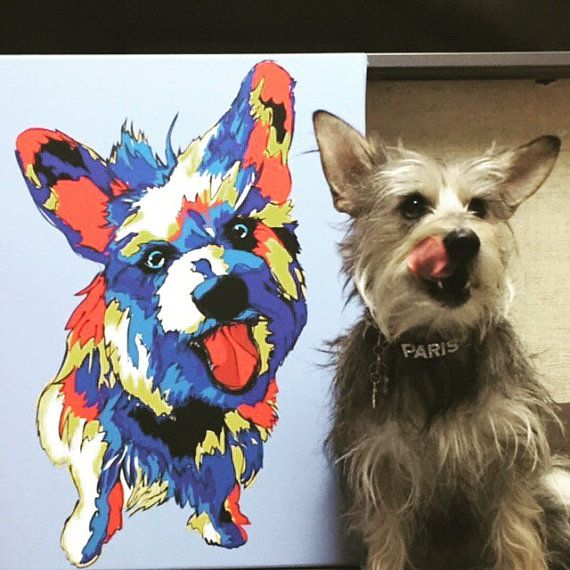 Custom Pop Art Prints of your Pets by DeezgrafixPetPrints on Etsy