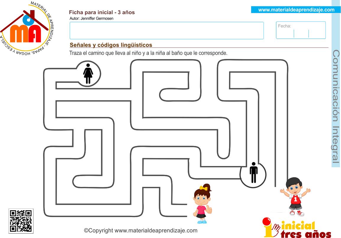 Senales Y Codigos Linguisticos 2 Comunicacion Integral 3 Anos Material De Aprendizaje Educacion Infantil Aprendizaje Fichas