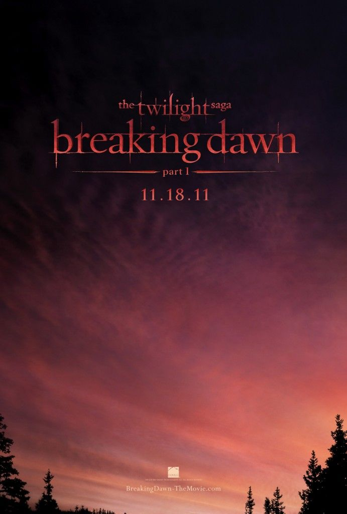 Breaking Dawn: Part 1.  First official movie poster.