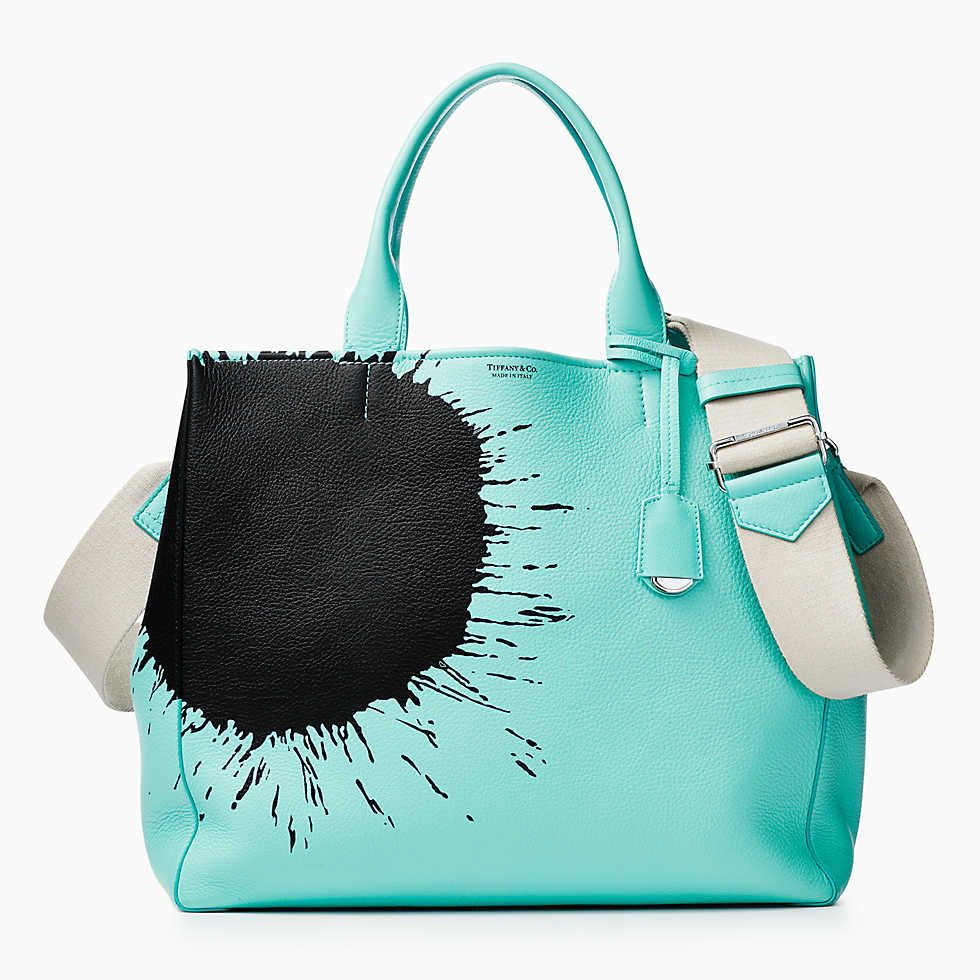 da23552c460 Women s tote in Tiffany Blue® grain calfskin leather.