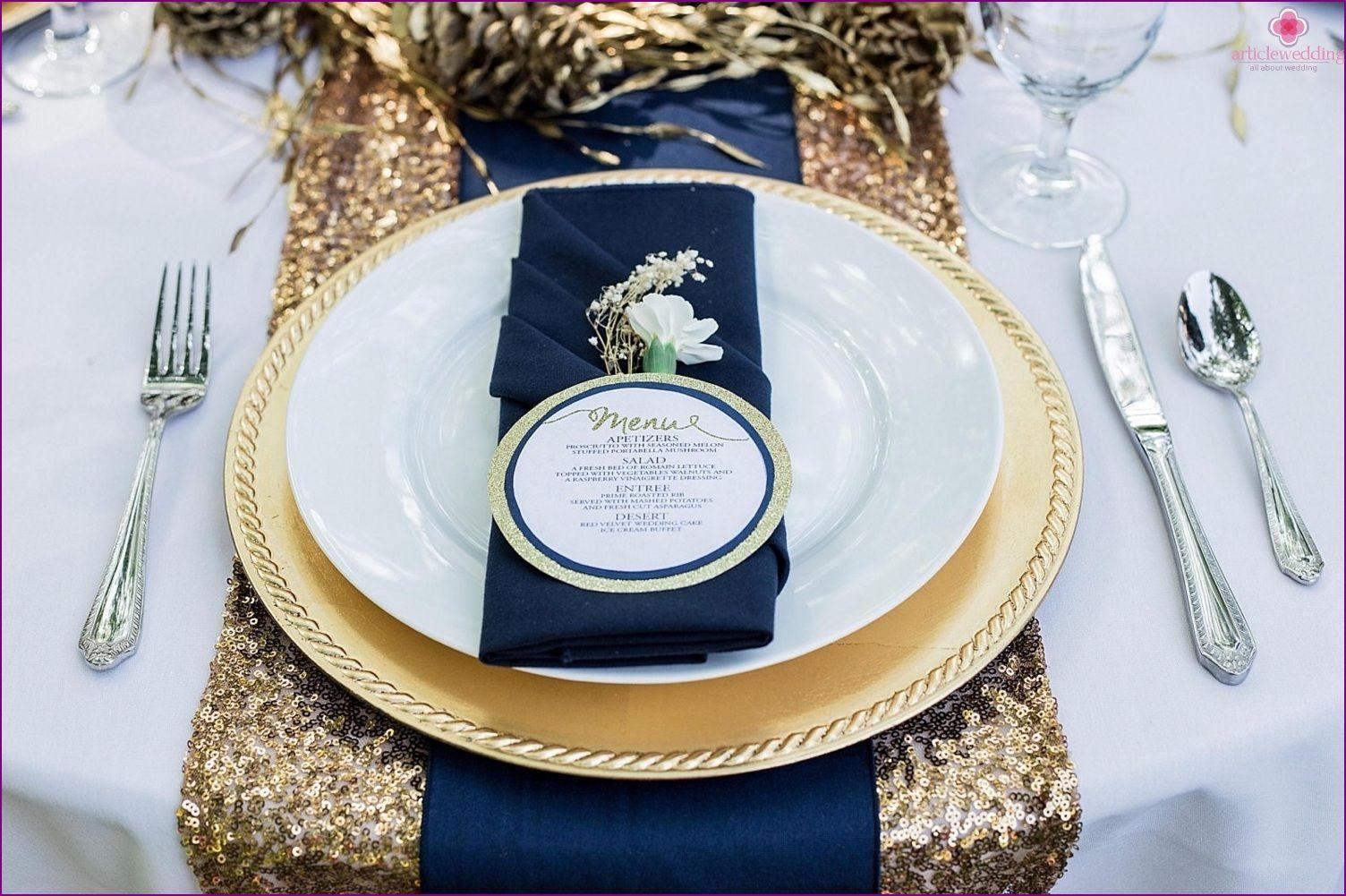 Hochzeit In Farben Blau Und Gold Luxus Und Adel Hochzeit