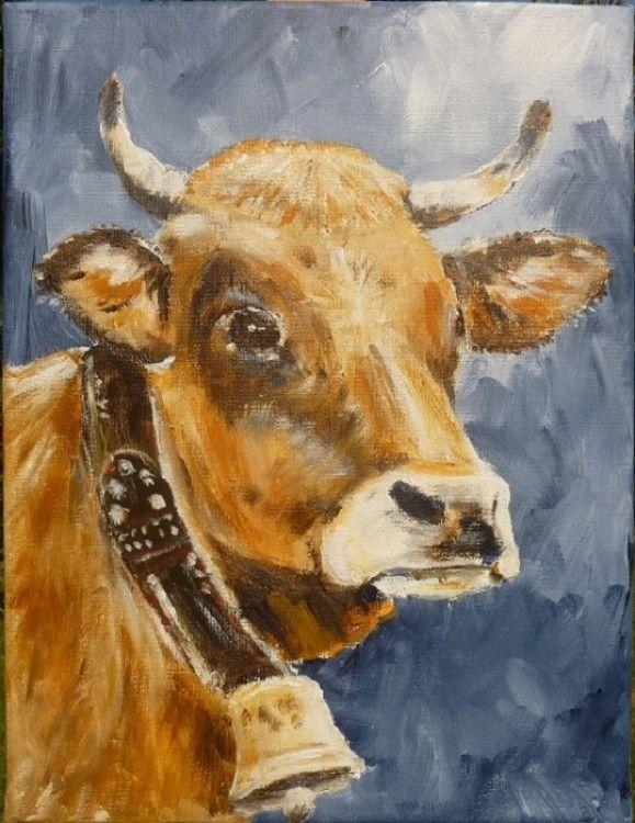 Vache avec cloche peinture animali re vaches pinterest uvres d 39 art et artistes for Peindre une baignoire en acrylique