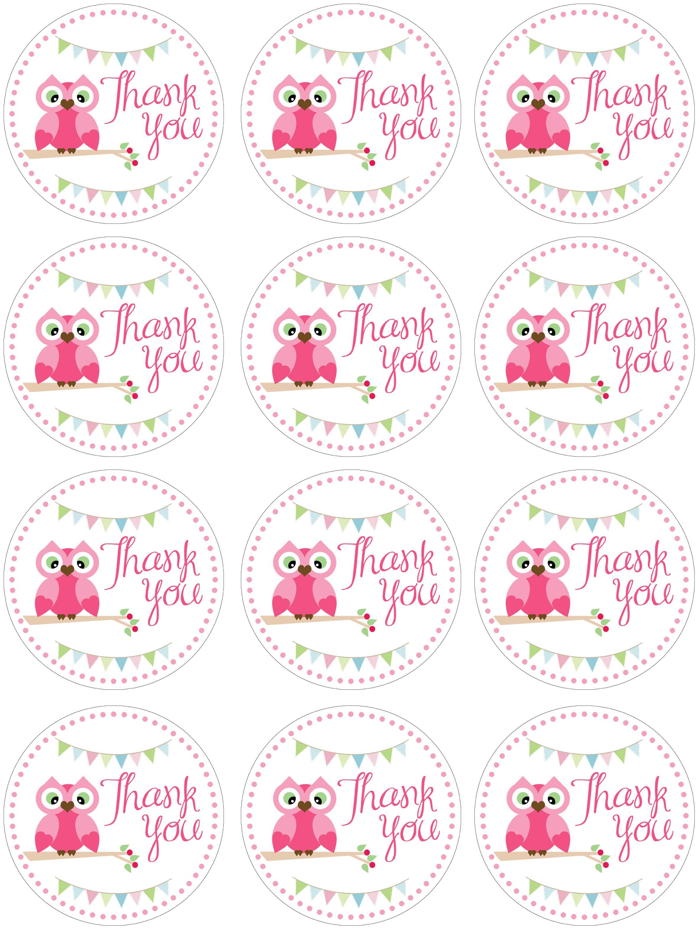 Owl Thank You Printables Howtonestforless Wp