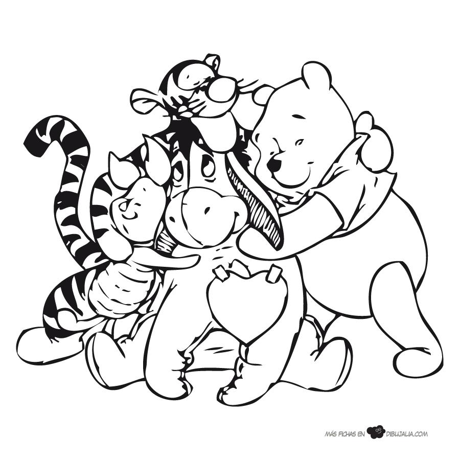 Abrazo De Amigos Dibujalia Dibujos Para Colorear Dibujos Animados Disney Winnie Pooh Dibujos Para Colorear Disney Colorear Disney Libro De Colores