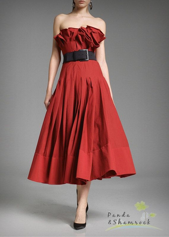 I adore this dress... I want it in Black ... Red audrey/women by pandaandshamrock on Etsy, $90.00