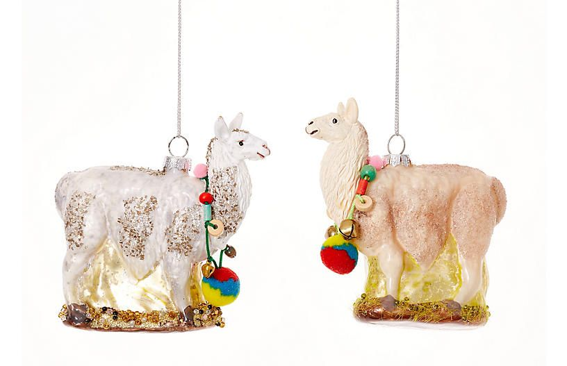 festive llama ornaments one kings lane