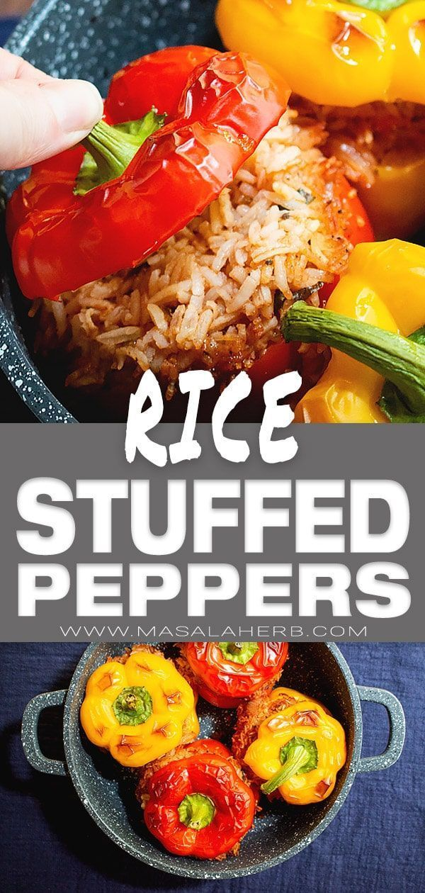Vegan Stuffed Peppers Recipe with Rice � - MasalaHerb.com
