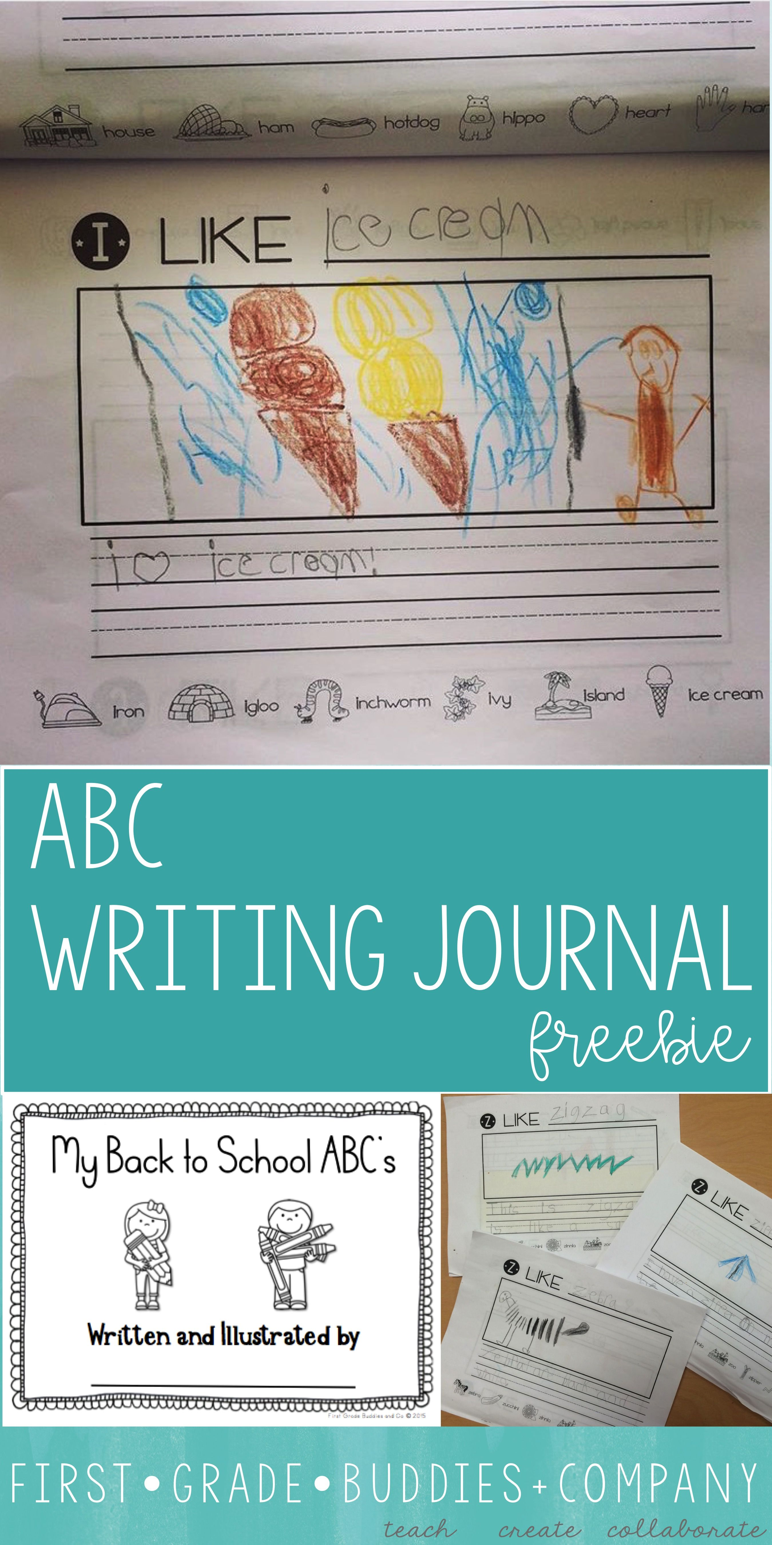 This FREE alphabet writing journal is great for your Kindergarten ...