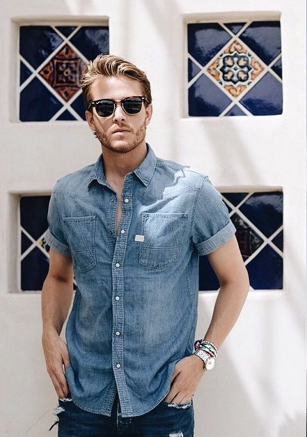 a5fa653427 Denim short sleeve a summer classic for any man s wardrobe