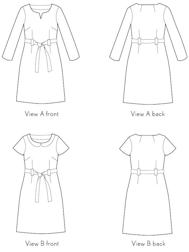 Digital bistro dress sewing pattern | Dress sewing patterns, Sewing ...