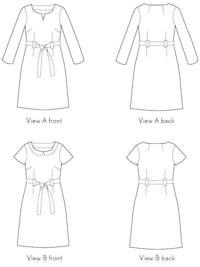 Digital bistro dress sewing pattern | Dress sewing patterns, Sewing ...