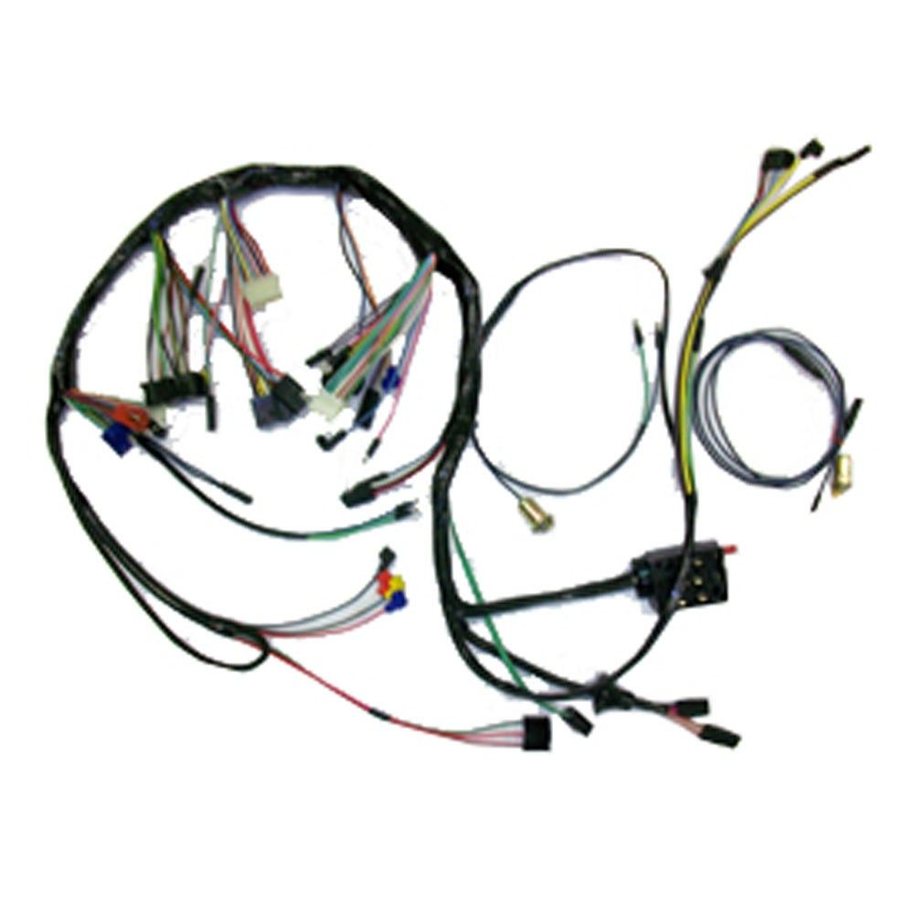 hight resolution of cj classics under dash wiring harness usa made with tachometer gt 67 68 mustang shelby alternator wire wiring harness oem style