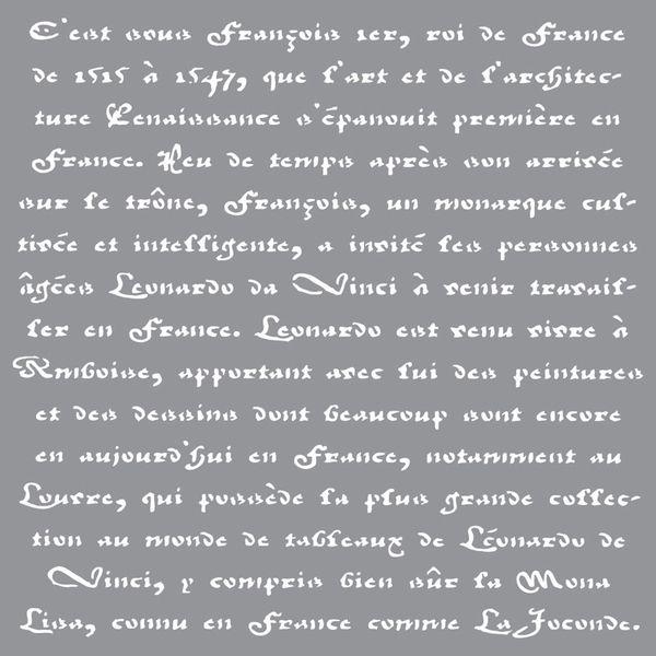 Old French Script DecoArt Americana Decor Stencil