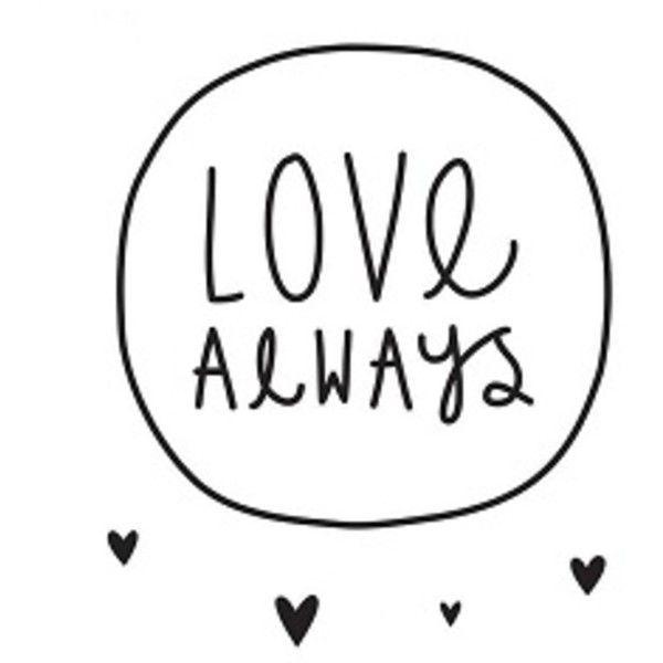 Wall Stickers : Love Always (205 MXN) ❤ liked on Polyvore featuring home, home decor, wall art, fillers, quotes, text, words, backgrounds, phrase and saying