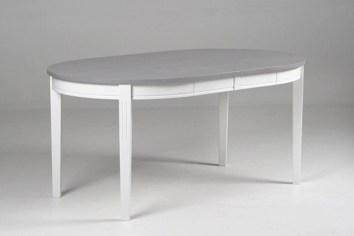 Jatkettava HUVILA-pöytä,  Valkoisen pöydän kansi maalattua MDF-levyä, jalat koivua Valkoinen/harmaa pöytä kokonaan koivua Jetkolevyn pituus 45cm HUVILA-sarjaan on saatavana runsaasti erilaisia...