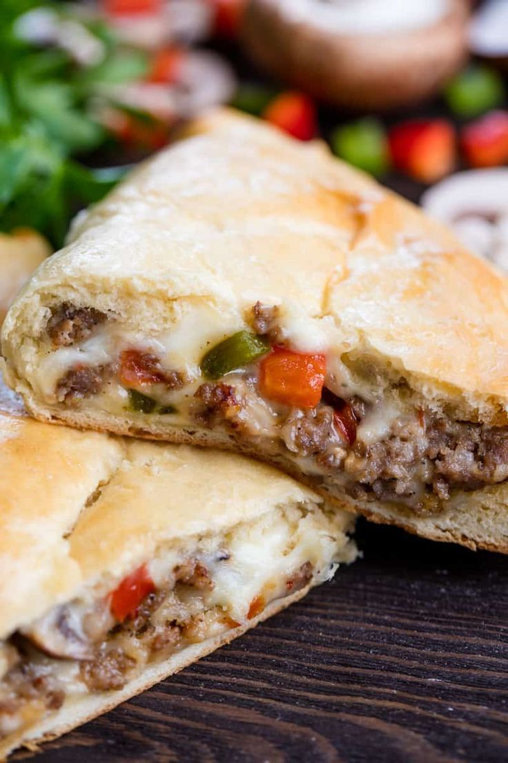 Photo of Sausage and Cheese Calzone