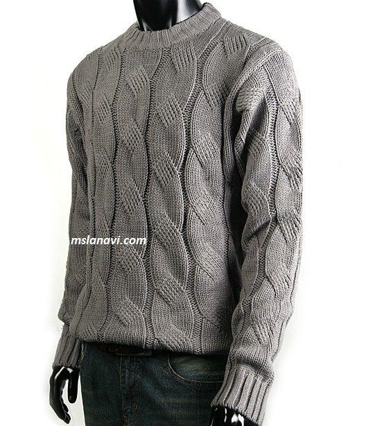 Мужской свитер спицами с красивой косой | вязание для мужчин ...