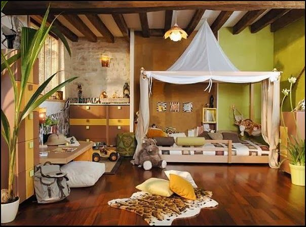 20 Charming Kids Bedroom Ideas With Jungle Theme To Try