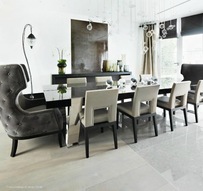 Beautiful neutral dining room ideas by kelly hoppen for Neutral dining room ideas