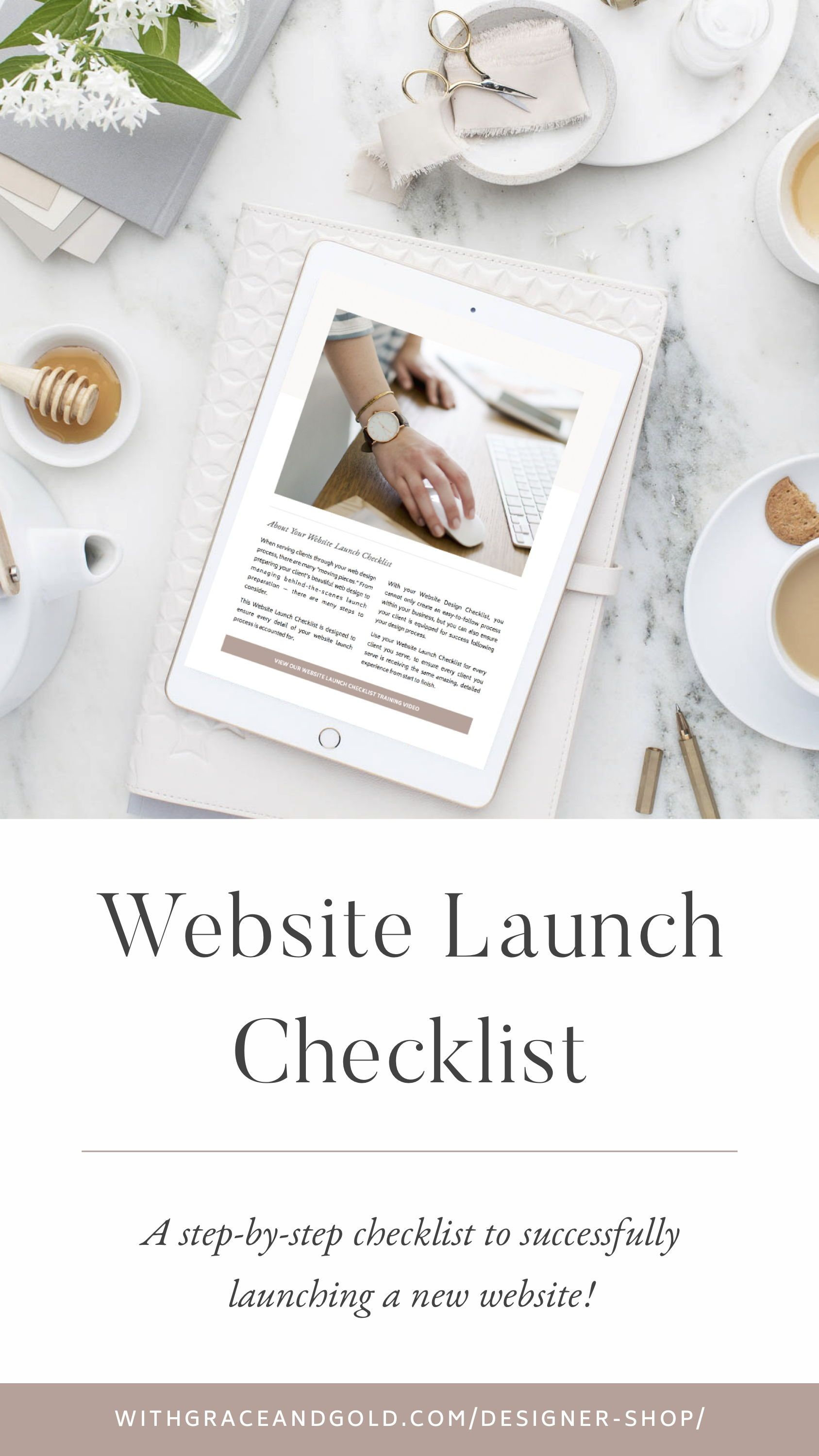 Website Launch Checklist For Web Designers By With Grace And Gold