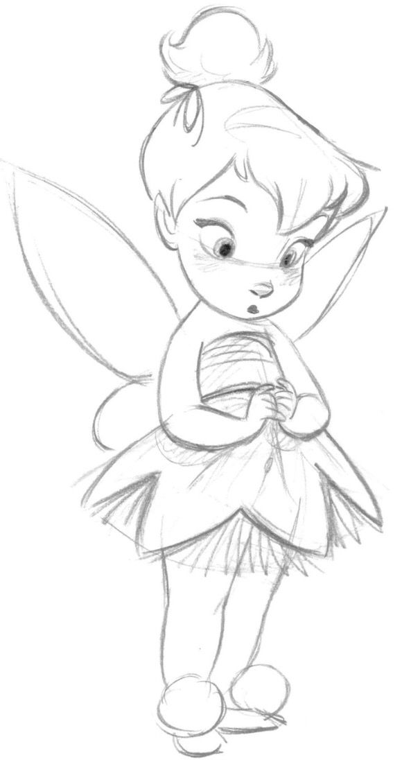 How To Draw Tinkerbells Face
