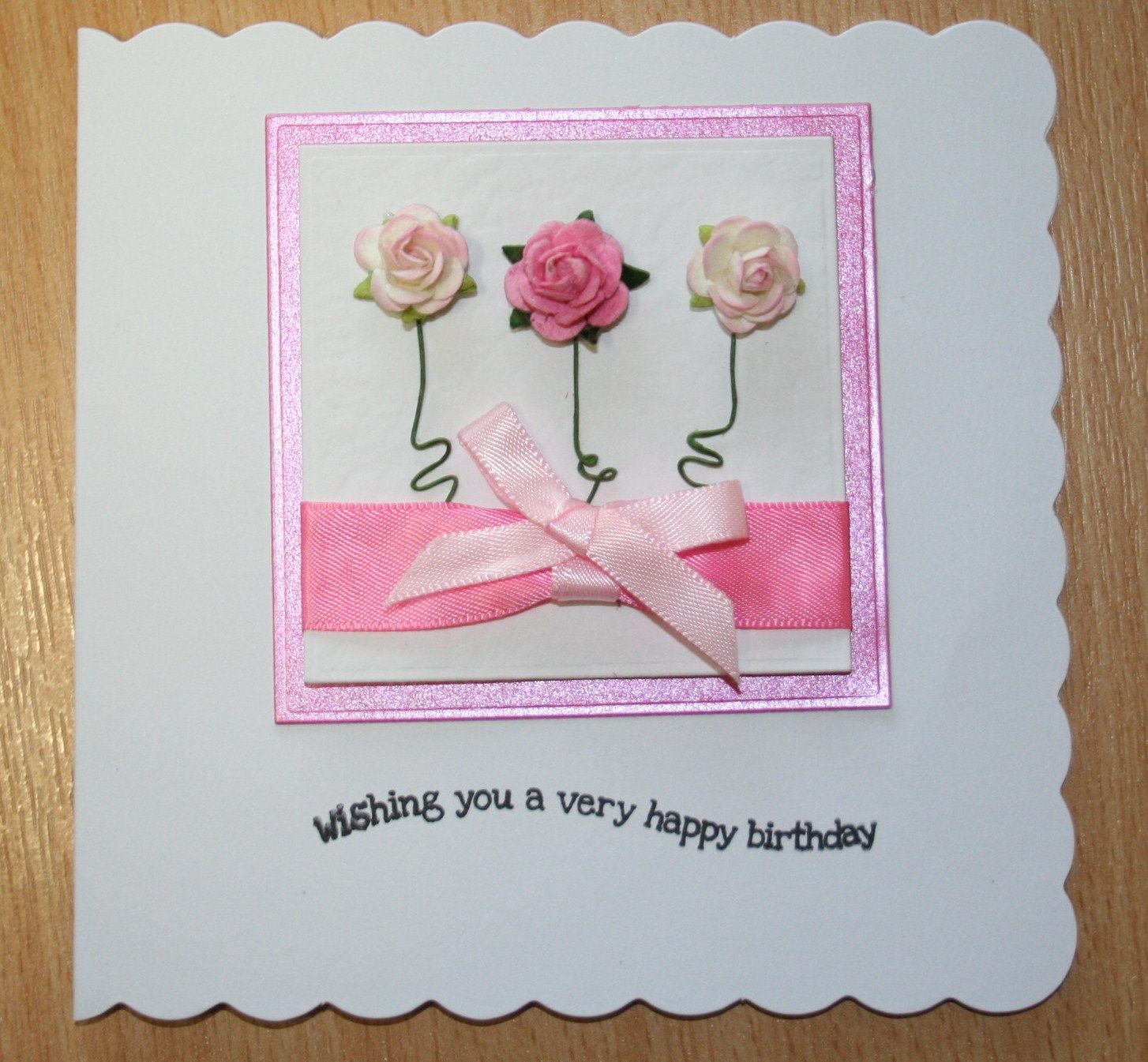 Handmade Birthday Card Paper Flowers Handmade Craft Cards