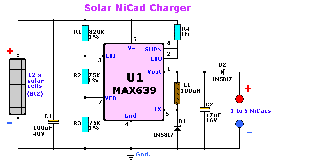solarpanel charger circuit is used to charge lead acid or ni cd rh pinterest es