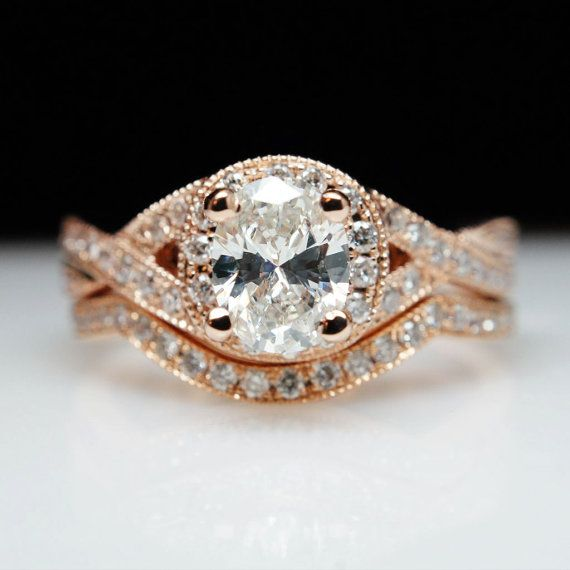 The Dion Exquisite 14k Rose Gold Diamond by CJsBridalCloset, $3950.00