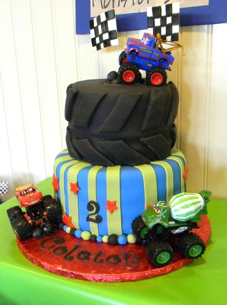 Mater Monster Truck Party Birthday Party Ideas | Casen's ...