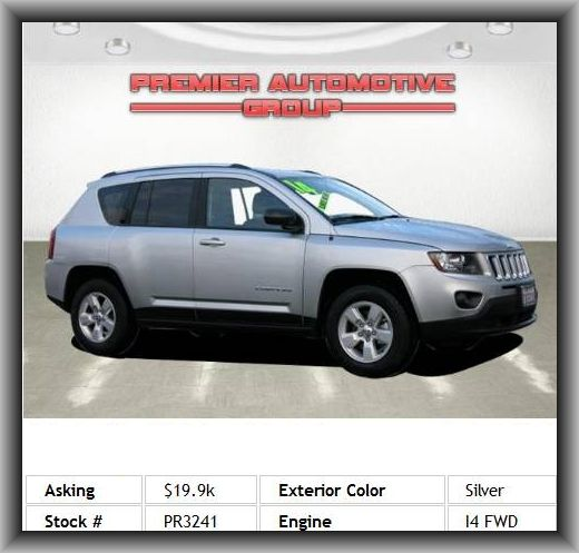 2014 Jeep Compass Sport SUV Gross Vehicle Weight: 4, Max