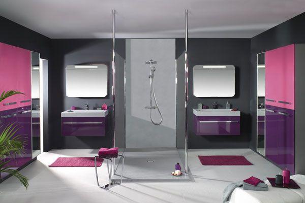 meubles de salle de bains hauts en couleur - Couleur Salle De Bain Moderne