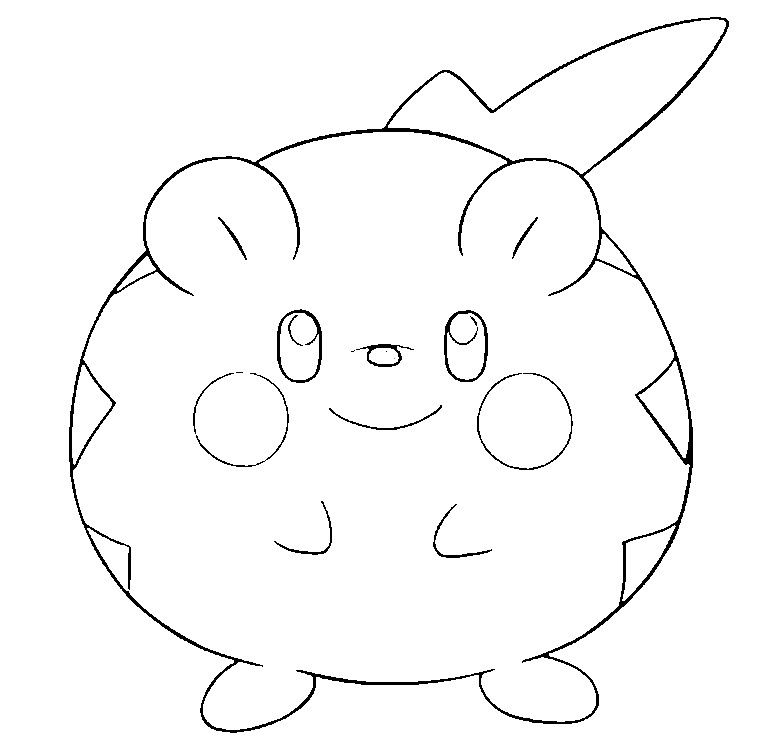 Togedemaru In 2020 Pokemon Coloring Cute Coloring Pages