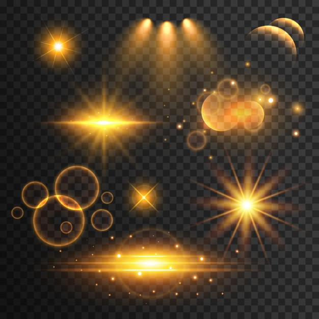 Download Set Of Reflections And Golden Effects Of Light For Free Png Images For Editing Light Background Images Png Images
