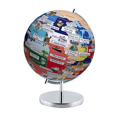 Globes and Maps 102952 Globee Home Office Decorative Usa Night