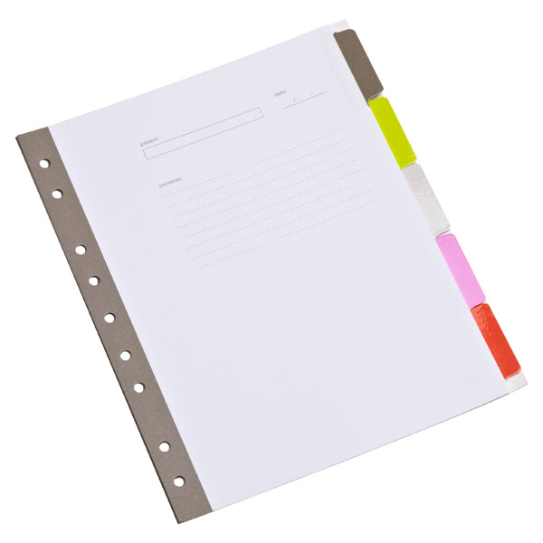 Russell Hazel Mini 5 Tab Index Dividers Divider Organize Office